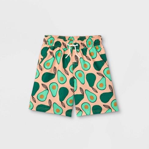 Boys' Avocado Print Swim Trunks - Cat & Jack™ Green - image 1 of 2