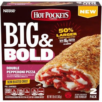 Hot Pockets Big & Bold Double Pepperoni Pizza - 13.5oz