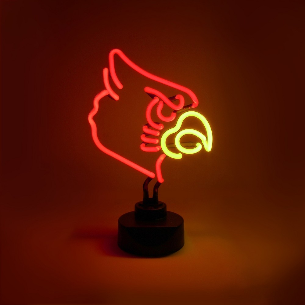 NCAA Louisville Cardinals Table Top Neon Logo Light