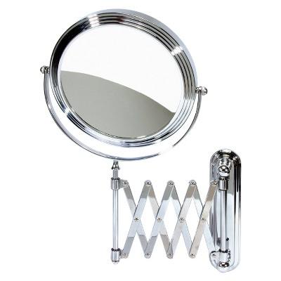 Harry Koenig Accordion Wall Mount Mirror - Chrome