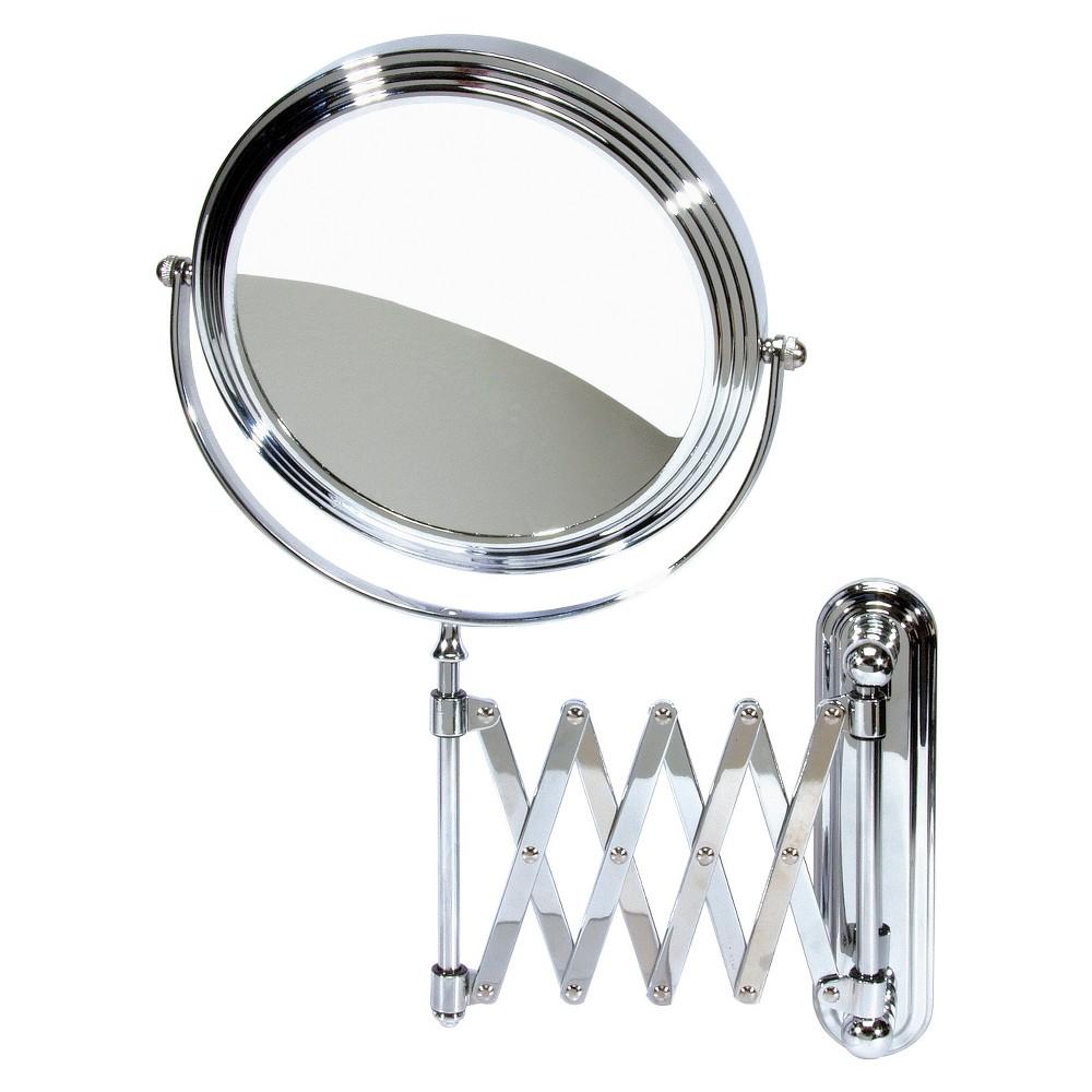 Image of Harry Koenig Accordion Wall Mount Mirror - Chrome