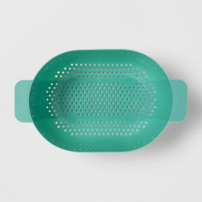5qt Plastic Colander Green - Room Essentials™