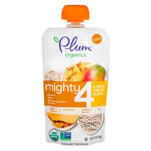 Plum Mighty 4 4oz Butternut Squash, Pineapple, Oats & Bns - image 1 of 6
