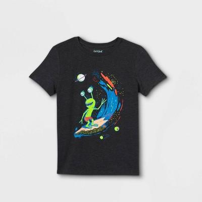 Boys' Alien Graphic Short Sleeve T-Shirt - Cat & Jack™ Charcoal Heather