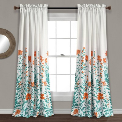 Set of 2 Aprile Room Darkening Window Curtain Panels - Lush Décor