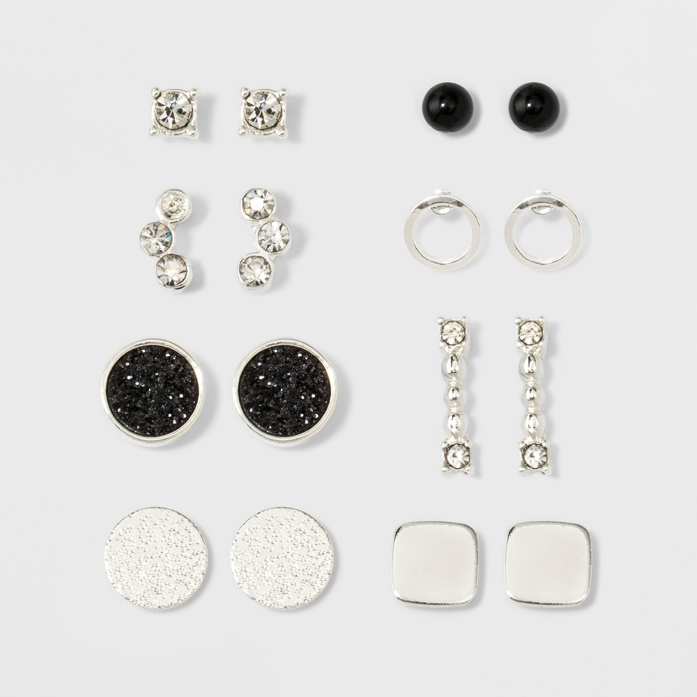 c8a8dce6478 ... Give your jewelry box a boost with the Multi Earring Set from A New Day.  With styles ranging from flat circles to stone clusters to bar earrings, ...