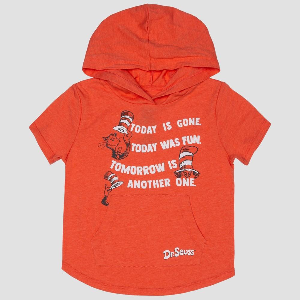 Toddler Boys' Dr. Seuss The Cat in the Hat Short Sleeve Hooded Sweatshirt - Orange 2T, Pink