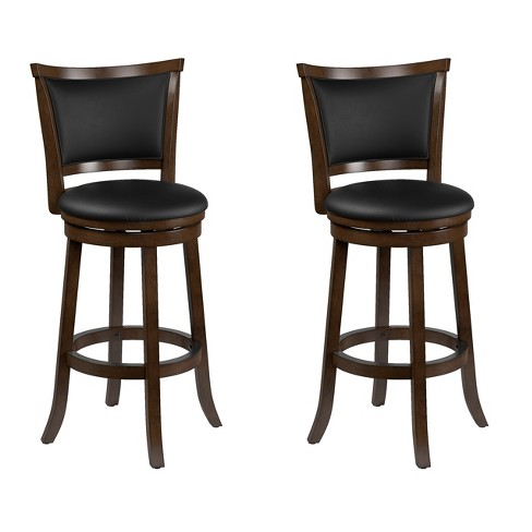 Set of 2 Counter And Bar Stools Black Brown - CorLiving - image 1 of 4