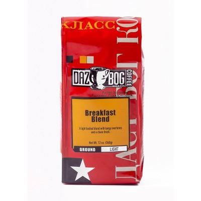 Dazbog Coffee Breakfast Blend Light Roast Ground Coffee - 12oz