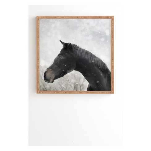 Chelsea Victoria Winter Horse Framed Wall Art Poster Print Brown ...