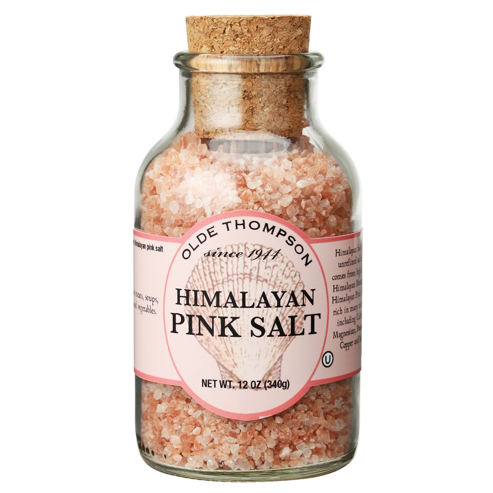Image of Olde Thompson Himalayan Pink Salt Refill Glass Jar