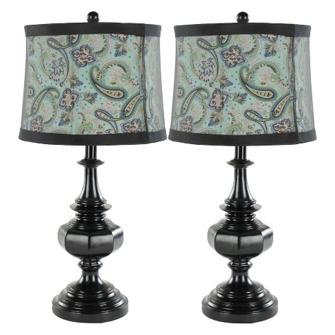 Olivia Paisley Table Lamp Set (Includes Energy Efficient Light Bulb) - Safavieh - image 1 of 2