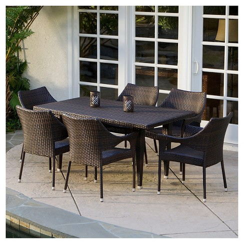 Cliff 7pc Outdoor Dining Set - Christopher Knight Home - image 1 of 4