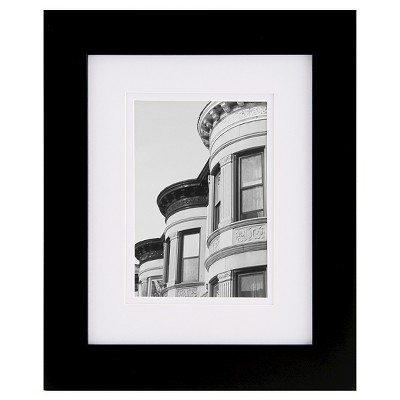 """8"""" x 10"""" Frame Matted Black - Gallery Solutions"""