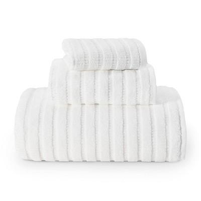3pc Preston Solid Towel Set White - Eddie Bauer