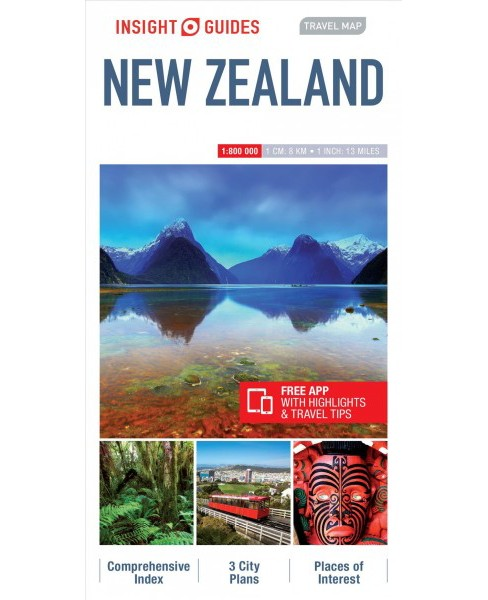 Insight Travel Map New Zealand -  (Insight Travel Maps) (Paperback) - image 1 of 1
