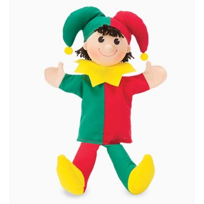 Magic Cabin - Royal Court Hand Puppet for Kids Pretend Play, Jester
