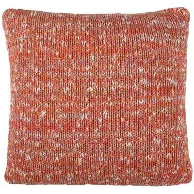Darling Knit Square Throw Pillow Orange - Safavieh