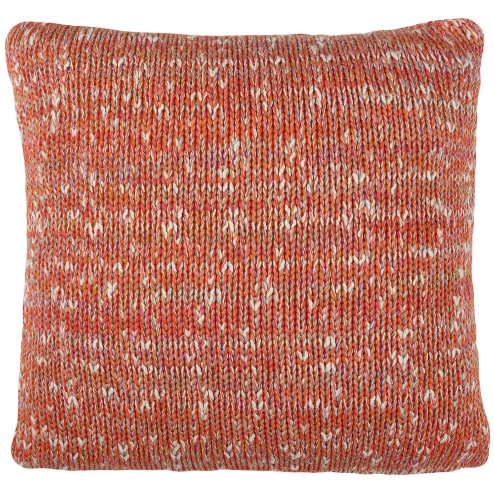 Darling Knit Square Throw Pillow Orange - Safavieh