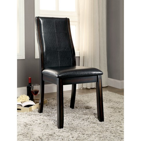 ioHomes Curved Padded Leatherette Side Chair Wood/Dark Cherry (Set of 2) - image 1 of 3