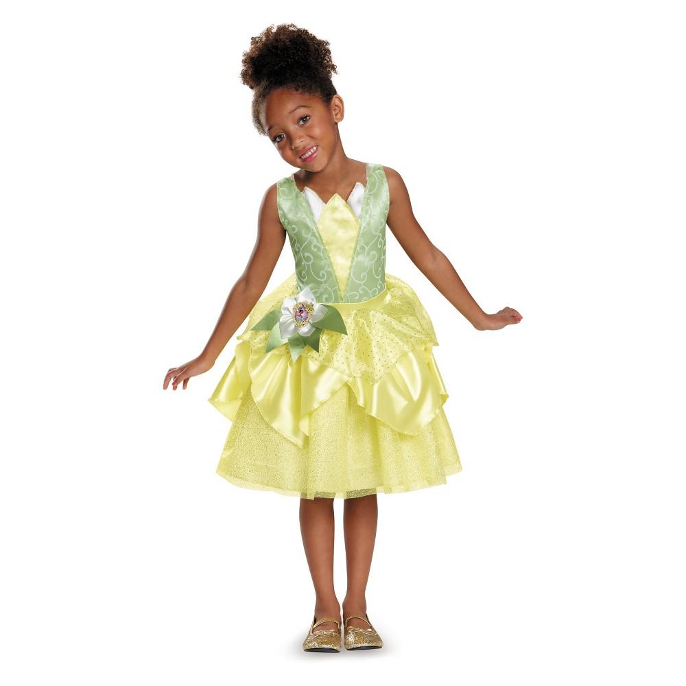 Girls' Disney Princess Tiana Classic Halloween Costume M (7-8), Multicolored