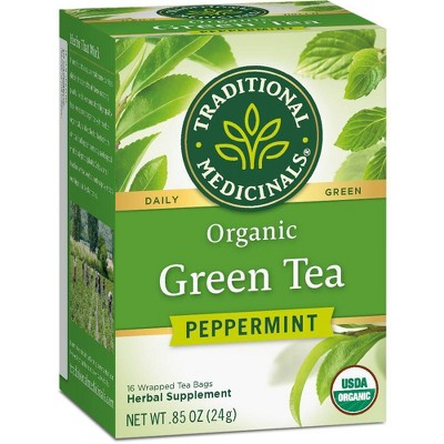 Traditional Medicinals Organic Green Tea Peppermint - .85oz