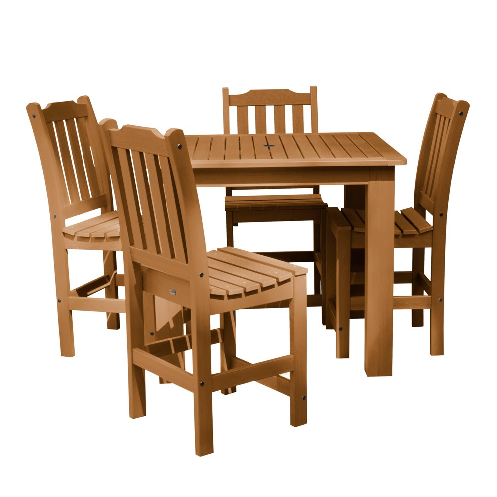 Lehigh 5pc Square Counter Dining Set Toffee - Highwood