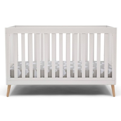 Delta Children Essex 4-in-1 Convertible Crib - Bianca White with Natural Legs