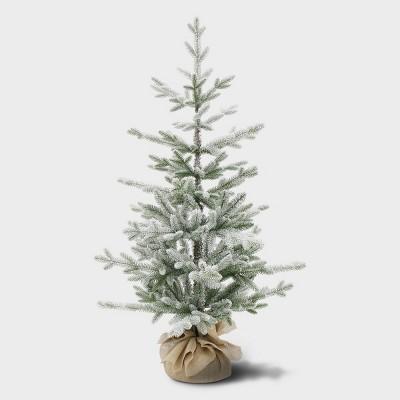 3.5ft Unlit Potted Flocked Balsam Fir Artificial Tree - Wondershop™