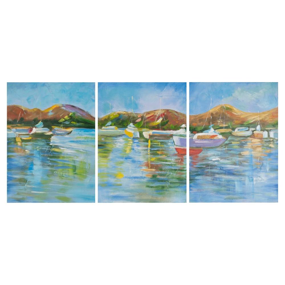 Sailors Cove Triptych Wall Art - Safavieh, Multi- Colored