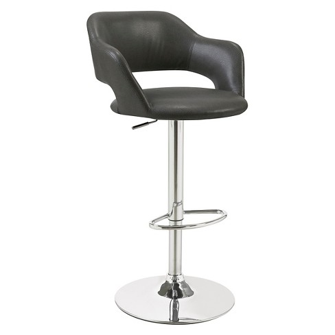 Metal Hydraulic Lift Adjule Barstool Charcoal Everyroom