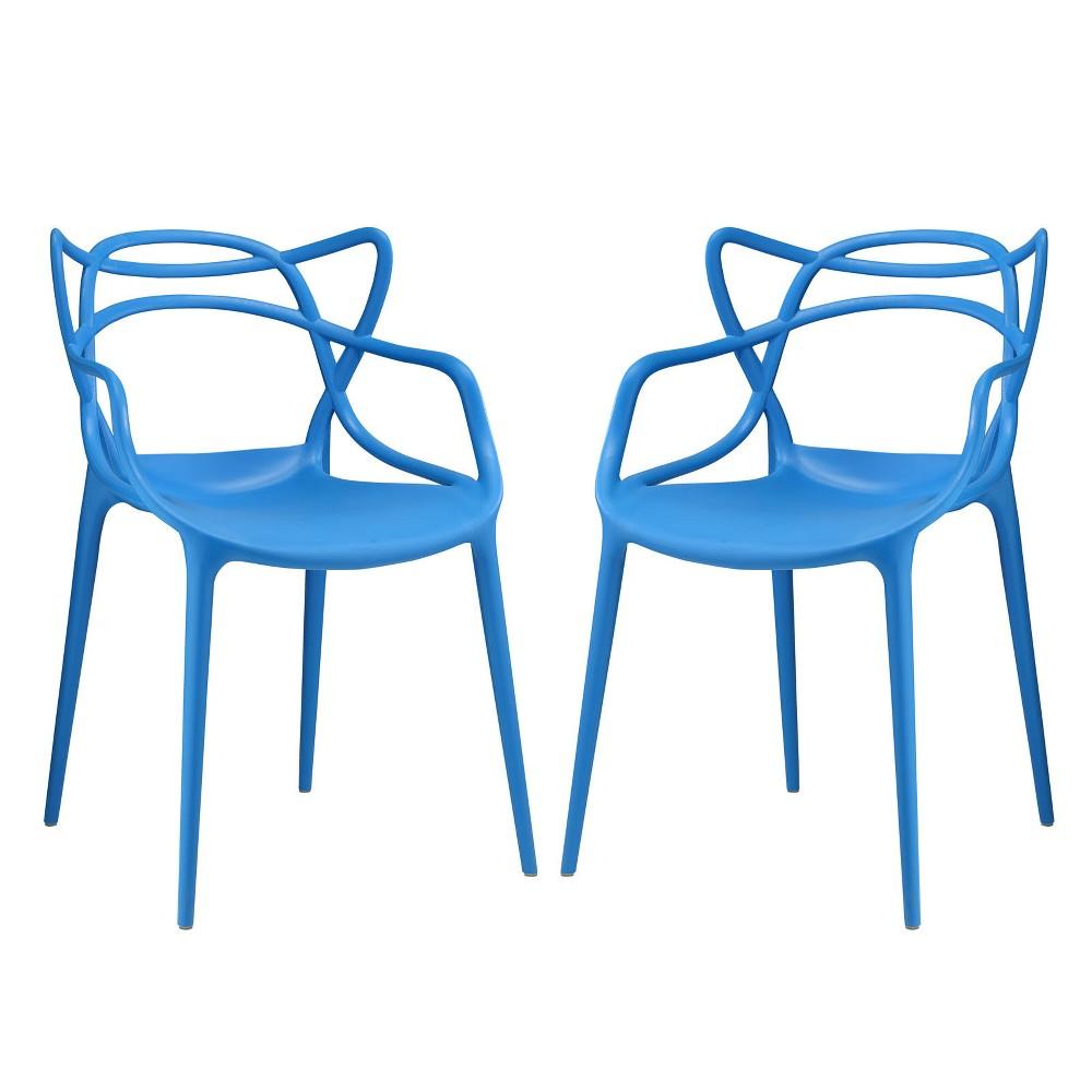 Entangled Dining Set Set of 2 Blue - Modway