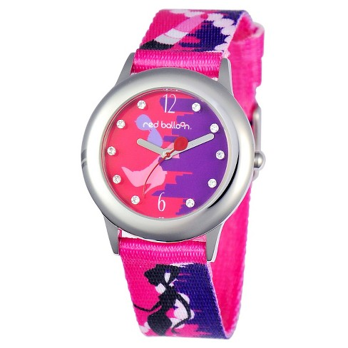 Girls' Red Balloon City Shopping Spree Stainless Steel Glitz Watch - Colorful - image 1 of 2