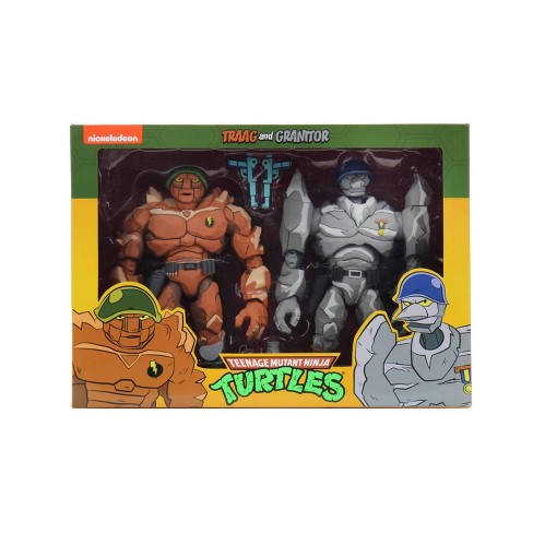 "Teenage Mutant Ninja Turtles - 7"" Scale Action Figure - Cartoon Series 4 Tragg and Grannitor 2 pack - image 1 of 4"