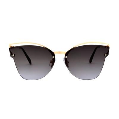 Women's Smoke Sunglasses - A New Day™ Bright Gold