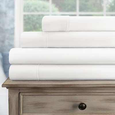 300-Thread Count Cotton Deep Pocket Sheet Set - Blue Nile Mills