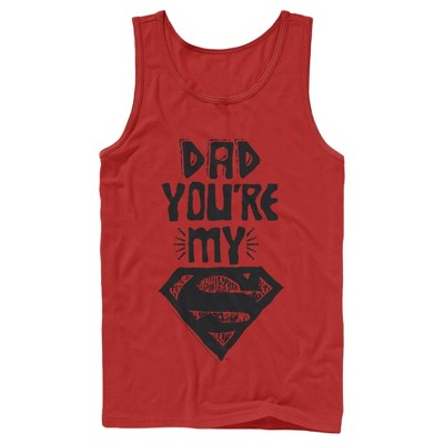 Men's Superman Father's Day Dad My Hero Tank Top