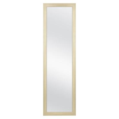 "14.75"" x 50"".75"" Natural Woodgrain OTD Full Length Mirror Brown - Room Essentials™"