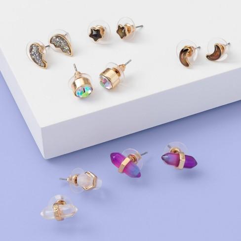 Girls' 6pk Earrings - More Than Magic™ - image 1 of 1