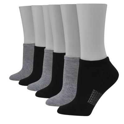 Hanes Performance Women's Lightweight Textured Arch 6pk No Show Athletic Socks 5-9