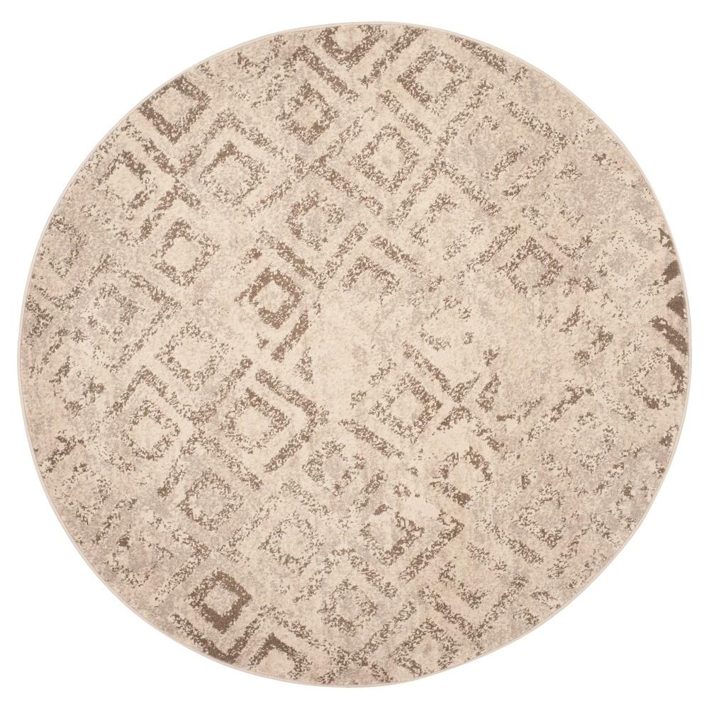 Jerrad Area Rug - Ivory (6' Round) - Safavieh, White