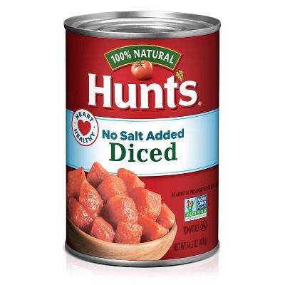 Hunt's 100% Natural No Salt Diced Tomatoes 14.5oz