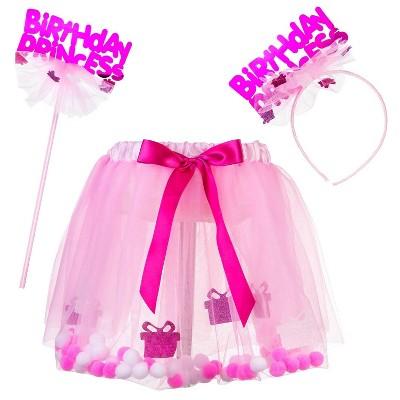 """Happy Birthday"" Dress Up Costume Set Pink"
