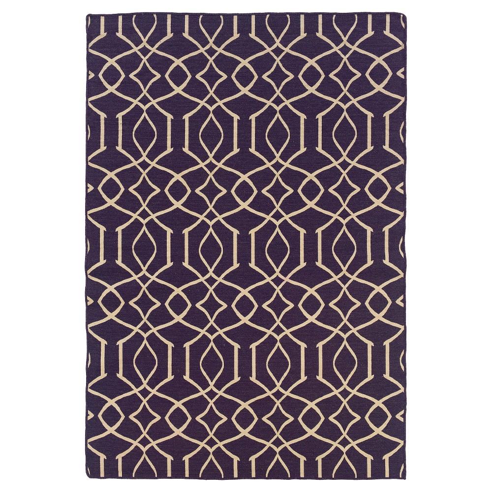 5'X7' Trellis Area Rug Purple - Linon