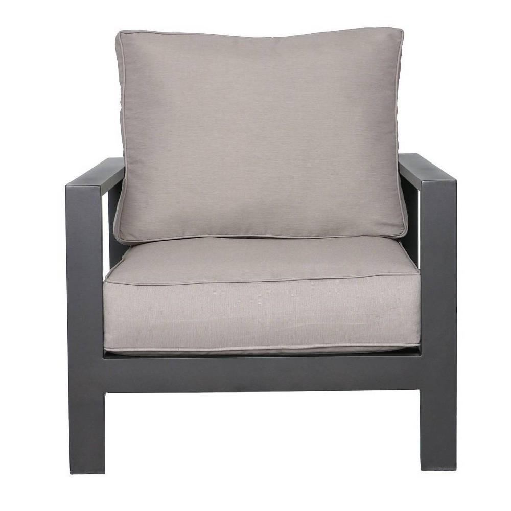 Tahiti Patio Club Chair Gray Teva Patio Furniture