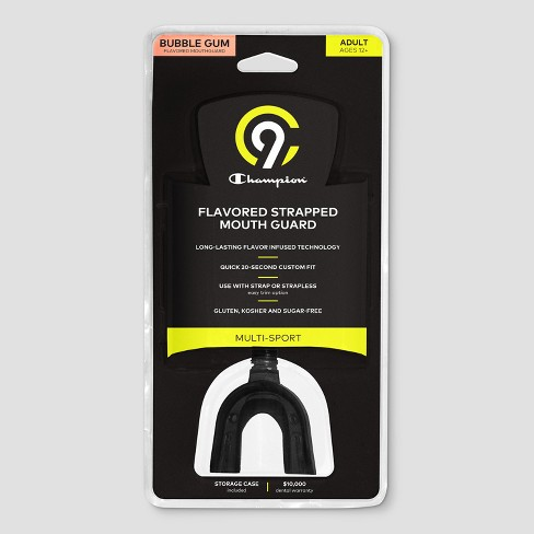 C9 Champion® Adult Strap Mouthguard With Bubble Gum Flavor - Black - image 1 of 2