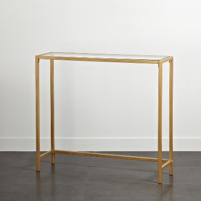 Tempered Glass and Metal Console Table Gold - Project 101