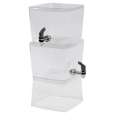CreativeWare 1.5gal Acrylic Stacking Beverage Dispenser - Set of 2