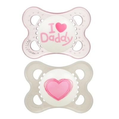 MAM Love & Affection Pacifier 0-6 Months - 2ct Pink