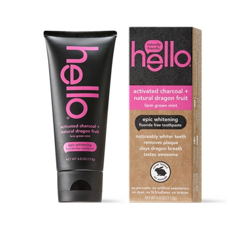hello Activated Charcoal and Dragonfruit Fluoride Free Toothpaste, sls Free and Vegan , 4oz - image 1 of 4